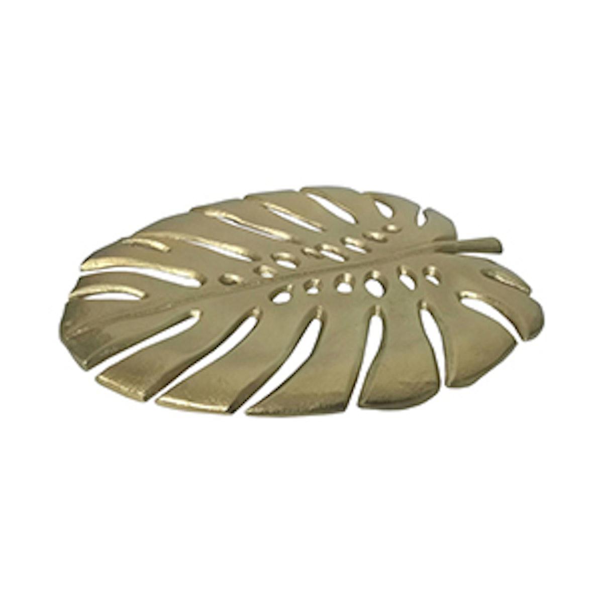 Palm Leaf Decor Gold