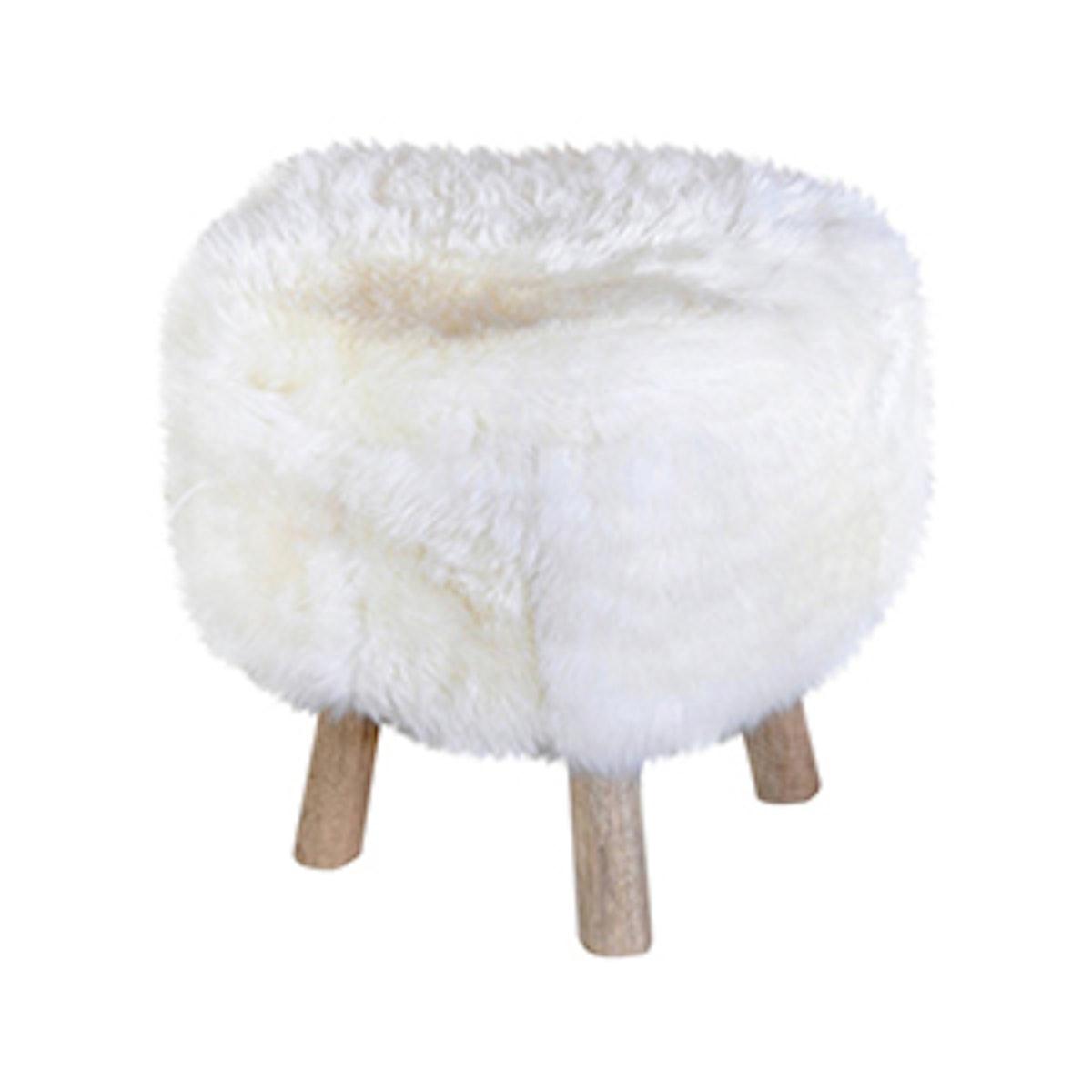 Taso Pouf Stool Nordic White