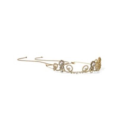 Gold-Plated Swarovski Crystal Headband