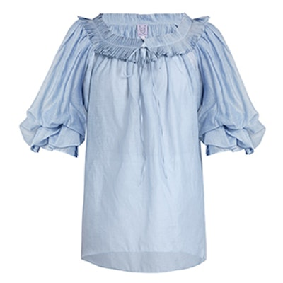 Roussia Cotton And Silk-Blend Voile Blouse