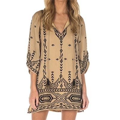 Nadiya Beige Tunic Dress