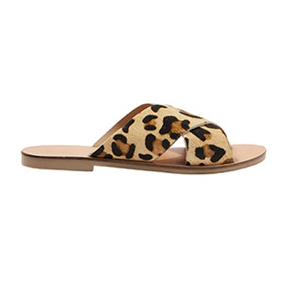 Holiday Cross Strap Leopard Sandals