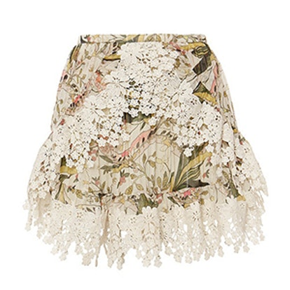 Alice Floral Print Lace Skirt