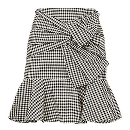 Gingham Picnic Box Mini Skirt