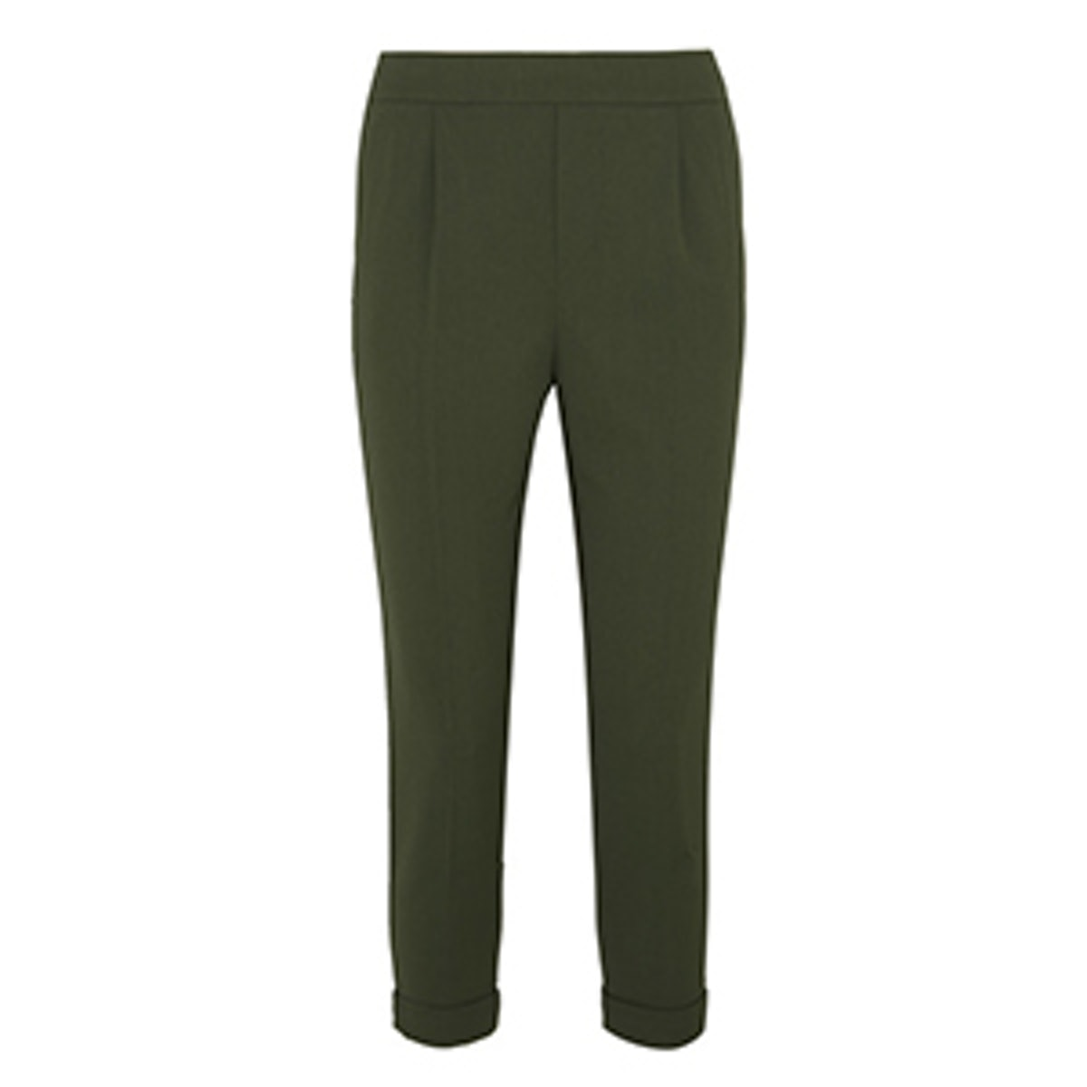 Cropped Washed Stretch-Crepe Tapered Pants