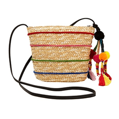 Crossbody Bag With Pompoms