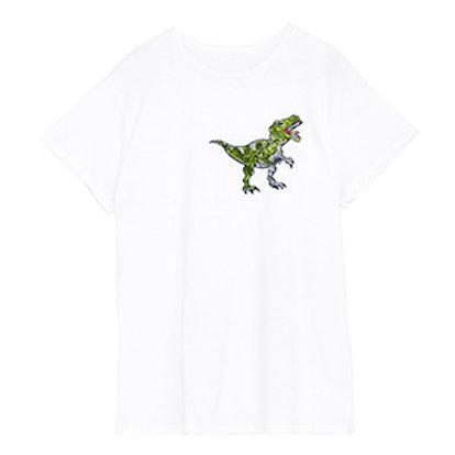 Dinosaur Appliqué Short Sleeve T-Shirt