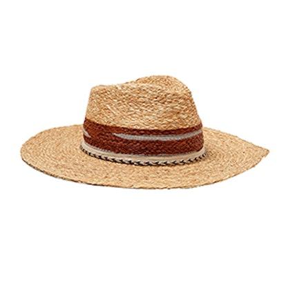 Raffia Hat With Color Ribbon