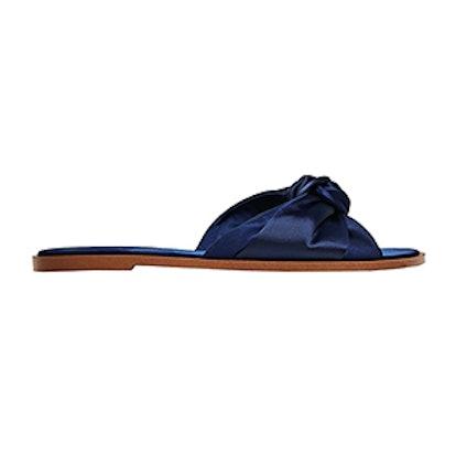Satin Bow Slides