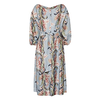 Winsome Printed Twill Dress
