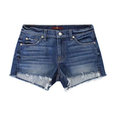Cutoff Step Hem Shorts