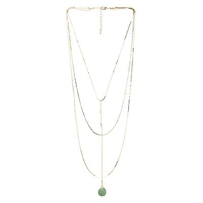 Jade Heart Rosary Necklace