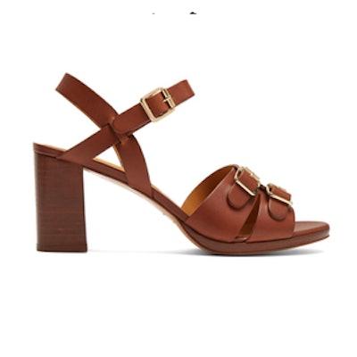 Tess Block Heel Leather Sandals