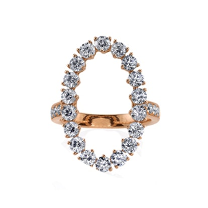Oval Halo Ring