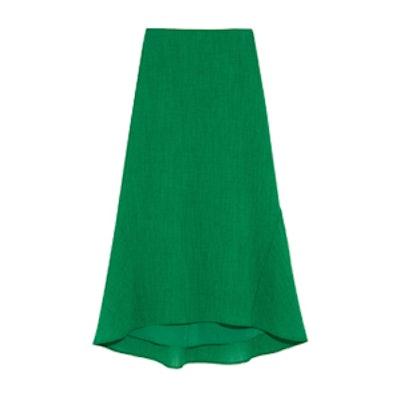 Asymmetric Crepe Midi Skirt
