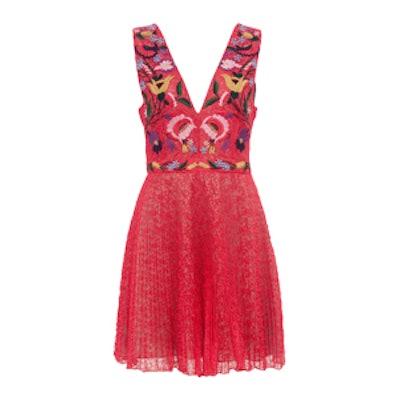 Alice Lace Embroidered V Neck Dress