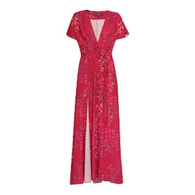 Frances Drape Printed Maxi Dress
