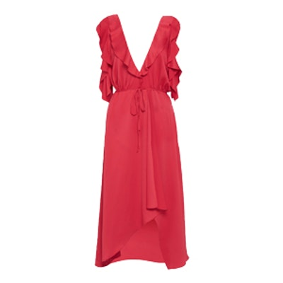 Maudie Drape Cold Shoulder Dress