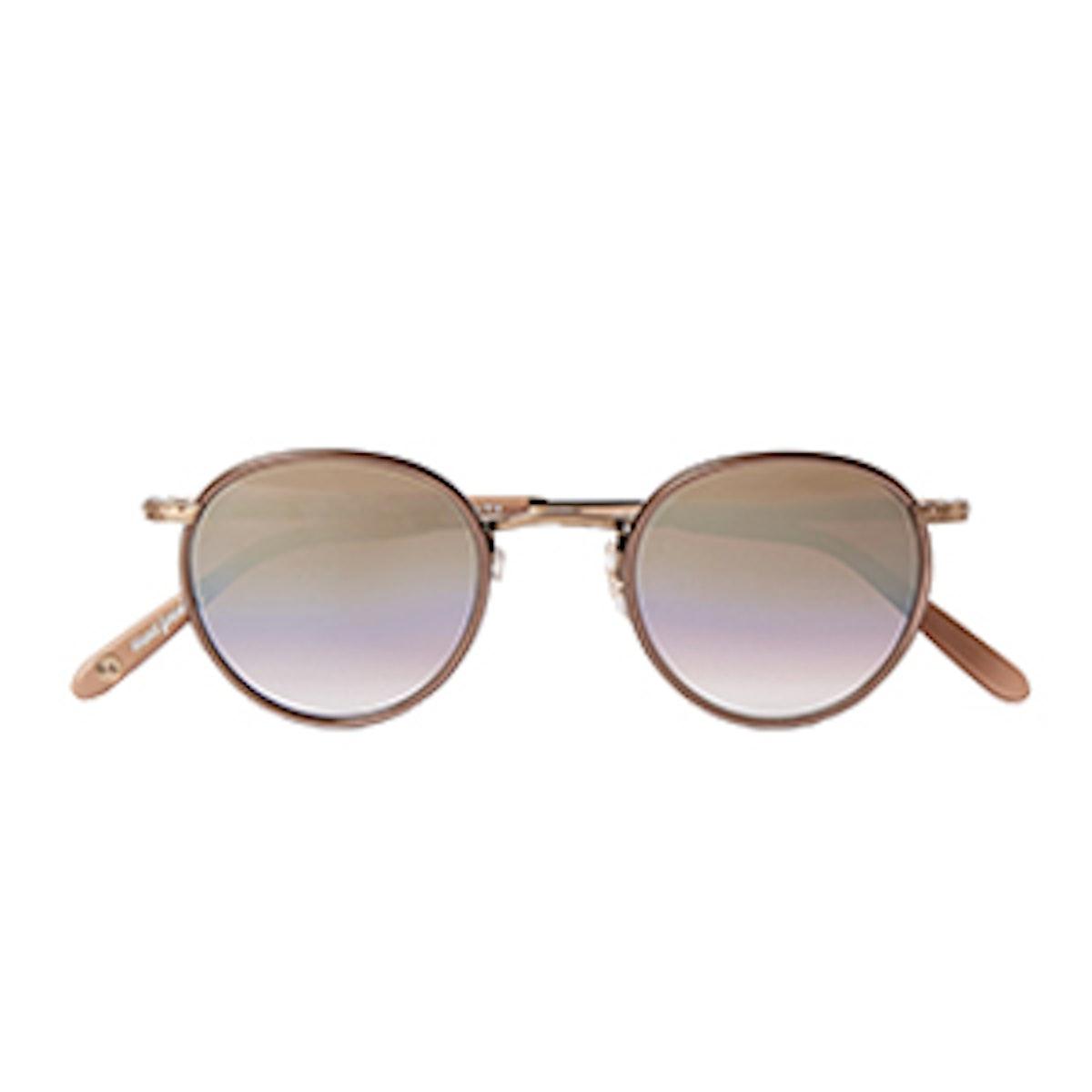 Wilson 46 Round-Frame Mirrored Sunglasses