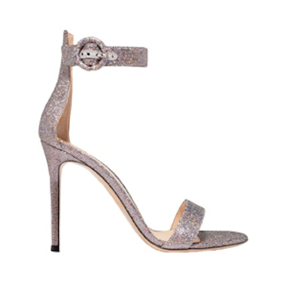 Portofino Textured-Lamé Sandals