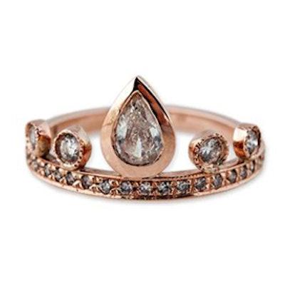 Teardrop Diamond Tiara Ring