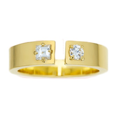 Prive Open Band Ring with Diamonds