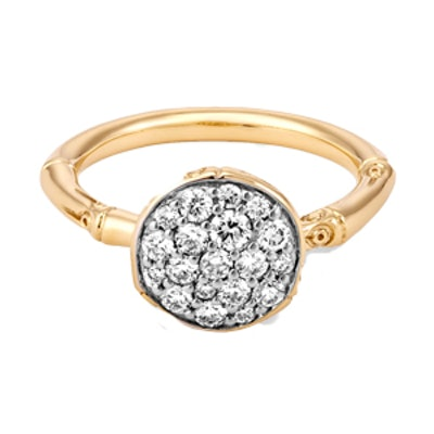 Bamboo Ring with Diamonds