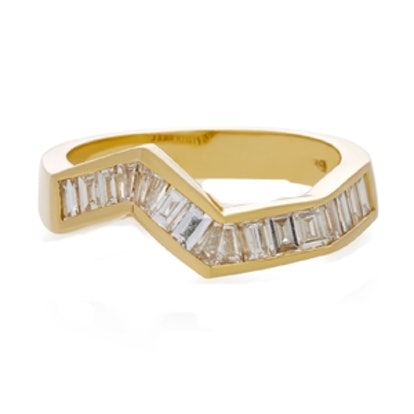 Origami Line Ring In 18K Yellow Gold