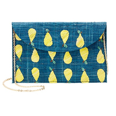 Hand-Embroidered Envelope Clutch