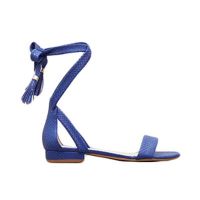 Valen Leather Ankle-Wrap Sandal