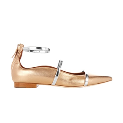 Robyn Point-Toe Leather Flats