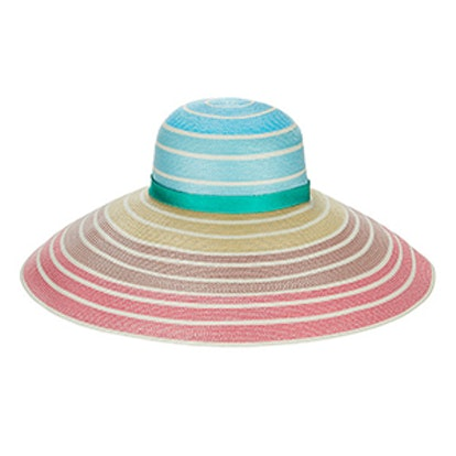 Rainbow Ombre Wide Brim Hat