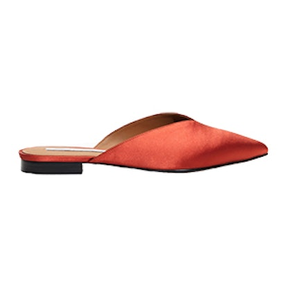 Satin Pointy Slippers