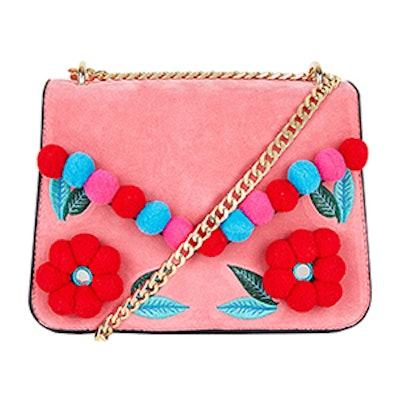 Laureli Pom Pom-Embellished Cross-Body Bag