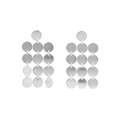 Paillettes Chandelier Silver Earrings