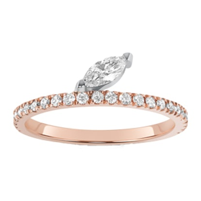 Defne Diamond Marquise Pavé Ring