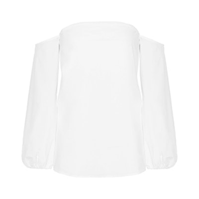 Laureema Off-The-Shoulder Cotton-Blend Poplin Top