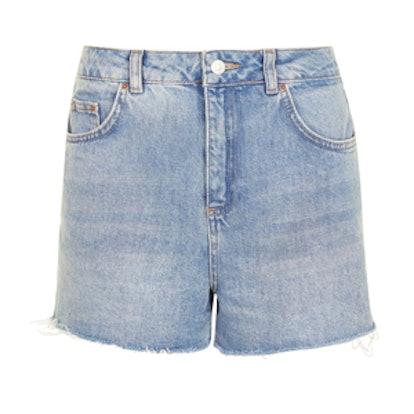 Moto Highwasted Mom Shorts