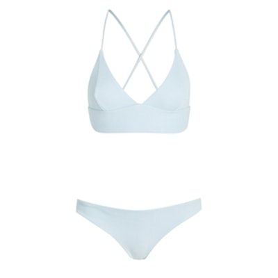 Ribbed Triangle Bikini Set