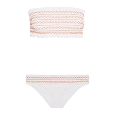 Costa Smocked Bandeau Bikini