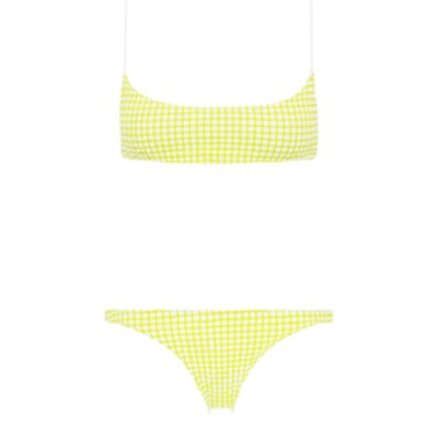 Strappy Crop & Bikini Bottom Set