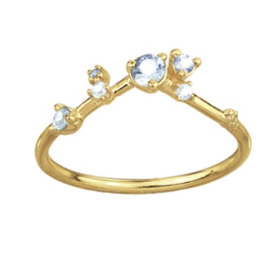 Sapphire Organic Triangle Ring