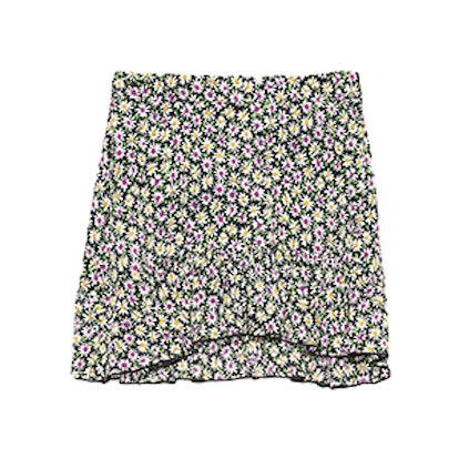 Ruffled Daisy Print Skirt