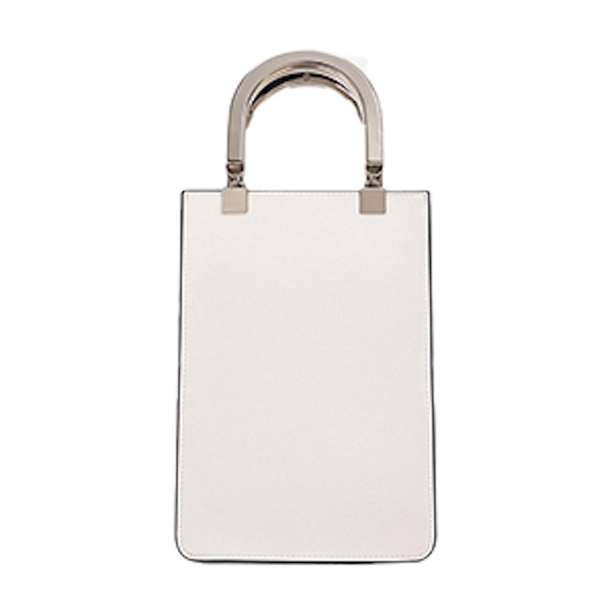 Mini Tote Bag With Metallic Handles