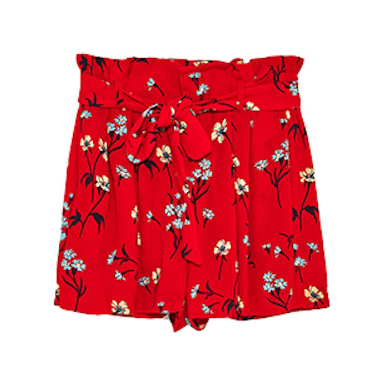 Floral Print Shorts