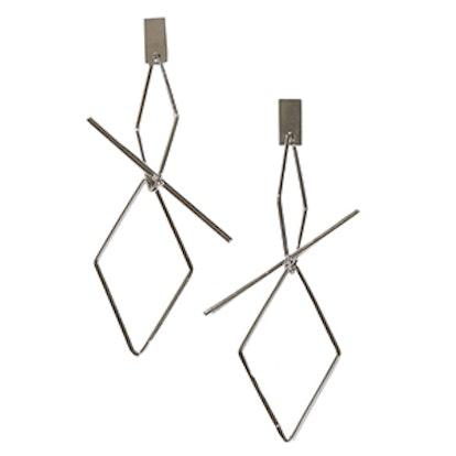 Corey Silver Geometric Earrings