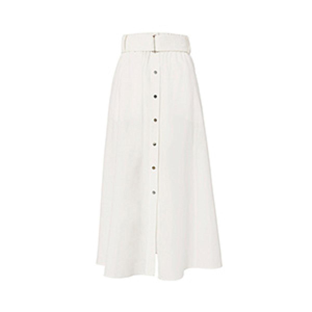 Divya Button-Front Skirt