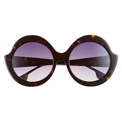 Stacey 56mm Round Gradient Lens Sunglasses