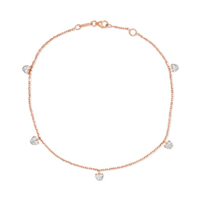 18-Karat Rose Gold Diamond Anklet