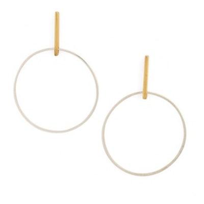 Front Hoop Earrings